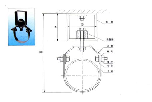 XDD型管道吊式隔振器图纸